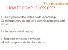 compile less css