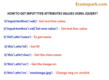 GET INPUT TYPE ATTRIBUTES VALUES USING JQUERY