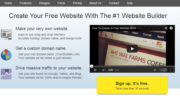 WebStarts+free+website+builder