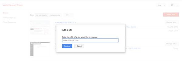 addsite Webmaster tool