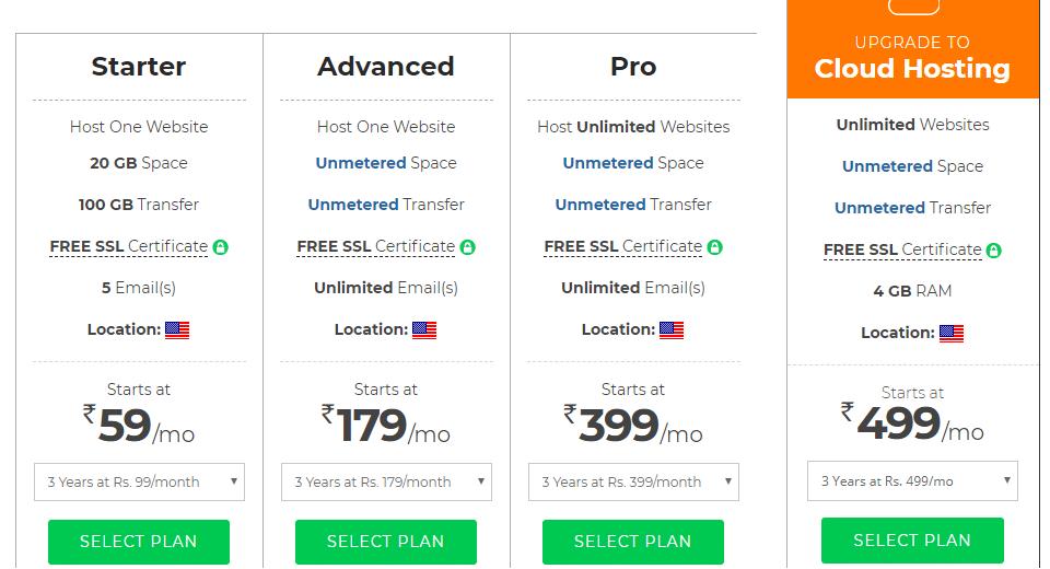 BigRock Linux webhosting